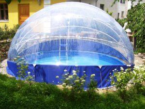 Die Überdachung des Schwimmbeckens TROPIKO, Pool-Überdachung, Pool-Abdeckung, Schwimmbecken Überdachung für Rundpool